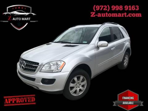 2007 Mercedes-Benz M-Class for sale at Z AUTO MART in Lewisville TX