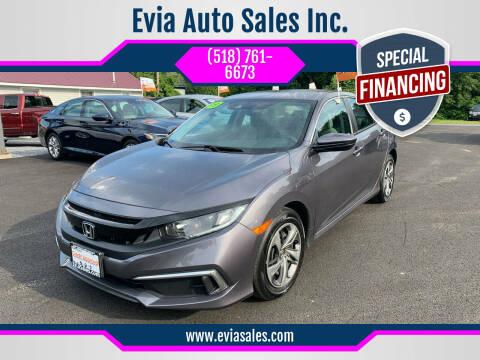 2019 Honda Civic for sale at Evia Auto Sales Inc. in Glens Falls NY