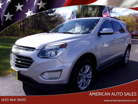 2017 Chevrolet Equinox for sale at American Auto Sales in Forest Lake MN