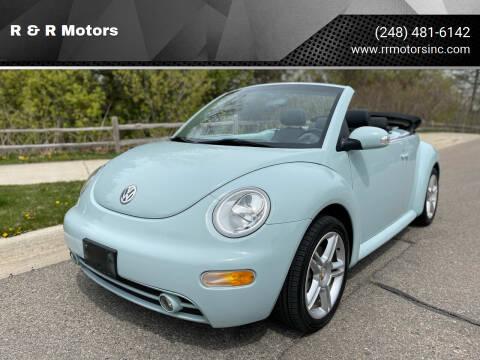 2004 Volkswagen New Beetle Convertible for sale at R & R Motors in Waterford MI