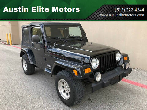 2006 Jeep Wrangler for sale at Austin Elite Motors in Austin TX