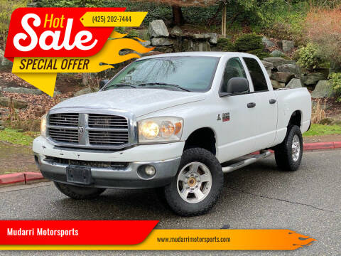 2008 Dodge Ram Pickup 2500 for sale at Mudarri Motorsports in Kirkland WA
