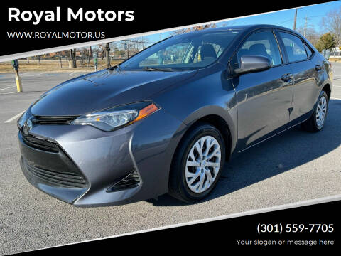 2017 Toyota Corolla for sale at Royal Motors in Hyattsville MD