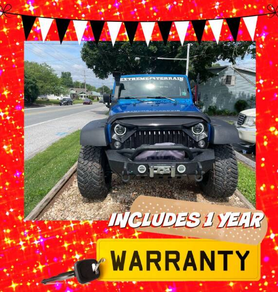 2016 Jeep Wrangler for sale at LAUER BROTHERS AUTO SALES in Dover PA