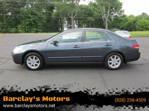 2003 Honda Accord for sale at Barclay's Motors in Conover NC
