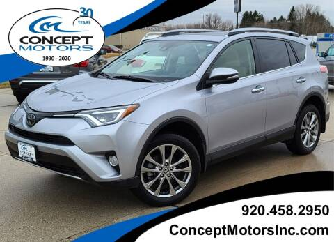 2018 Toyota RAV4 for sale at CONCEPT MOTORS INC in Sheboygan WI