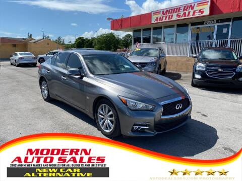 2017 Infiniti Q50 for sale at Modern Auto Sales in Hollywood FL