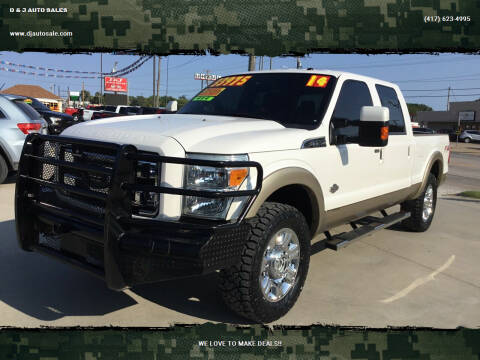 2014 Ford F-250 Super Duty for sale at D & J AUTO SALES in Joplin MO