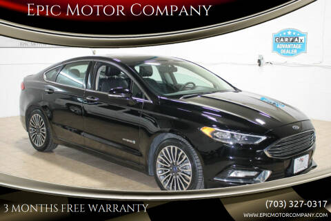 2017 Ford Fusion Hybrid for sale at Epic Motor Company in Chantilly VA