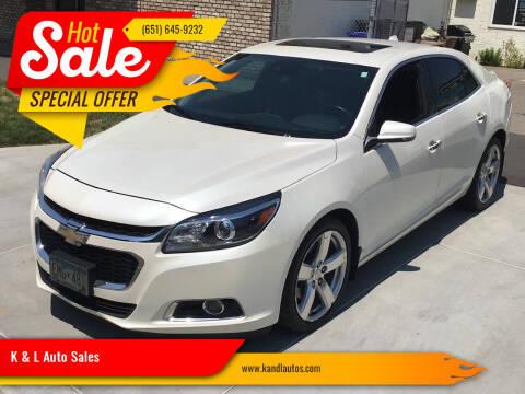 2014 Chevrolet Malibu for sale at K & L Auto Sales in Saint Paul MN