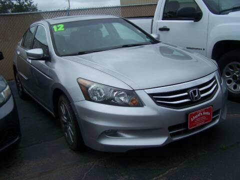 2012 Honda Accord for sale at Lloyds Auto Sales & SVC in Sanford ME