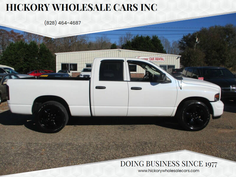 2004 Dodge Ram Pickup 1500 for sale at Hickory Wholesale Cars Inc in Newton NC