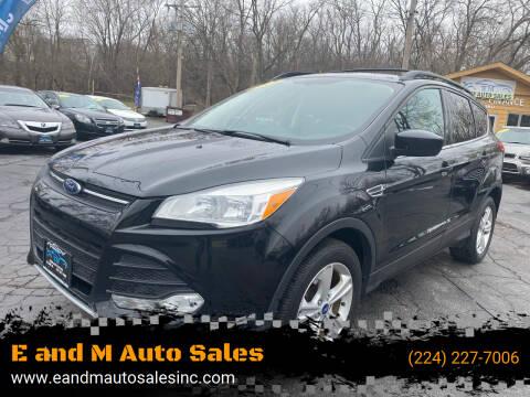2013 Ford Escape for sale at E and M Auto Sales in Elgin IL