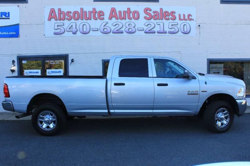 2015 RAM Ram Pickup 2500 for sale at Absolute Auto Sales in Fredericksburg VA