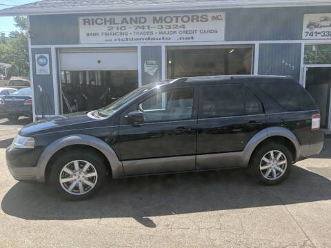 2008 Ford Taurus X for sale at Richland Motors in Cleveland OH