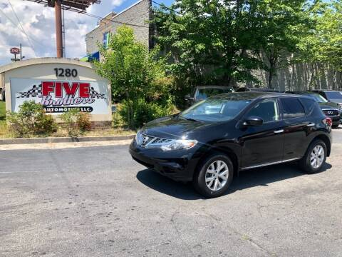 2013 Nissan Murano for sale at Five Brothers Auto Sales in Roswell GA