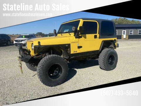 2002 Jeep Wrangler for sale at Stateline Auto Sales in Mabel MN