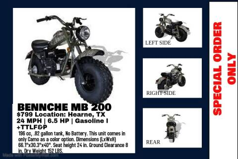 2020 BENNCHE MB 200 for sale at JENTSCH MOTORS in Hearne TX