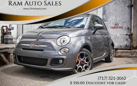 2012 FIAT 500 for sale at Ram Auto Sales in Gettysburg PA