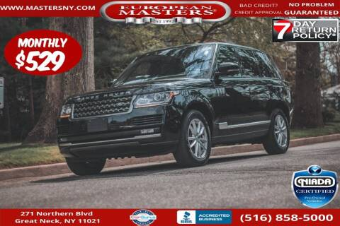2017 Land Rover Range Rover for sale at European Masters in Great Neck NY