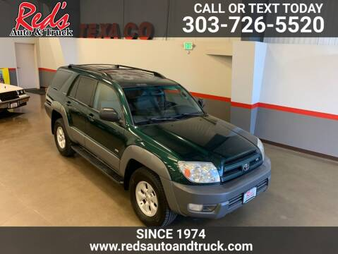 2003 Toyota 4Runner for sale at Red's Auto and Truck in Longmont CO