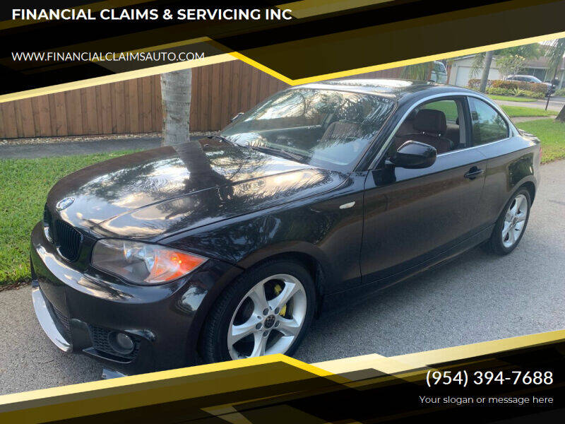2011 BMW 1 Series for sale at FINANCIAL CLAIMS & SERVICING INC in Hollywood FL