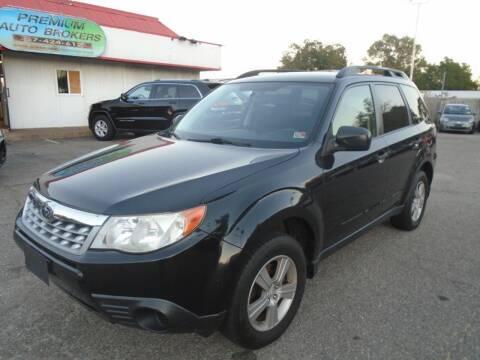 2011 Subaru Forester for sale at Premium Auto Brokers in Virginia Beach VA