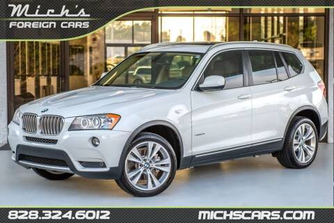 2011 BMW X3 for sale at Mich's Foreign Cars in Hickory NC