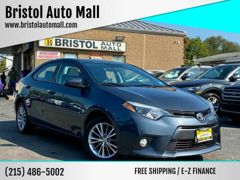 2015 Toyota Corolla for sale at Bristol Auto Mall in Levittown PA