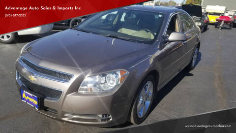 2012 Chevrolet Malibu for sale at Advantage Auto Sales & Imports Inc in Loves Park IL