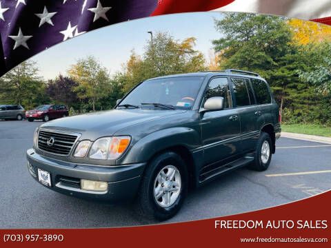 2000 Lexus LX 470 for sale at Freedom Auto Sales in Chantilly VA