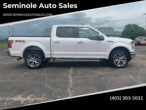 2015 Ford F-150 for sale at Seminole Auto Sales in Seminole OK