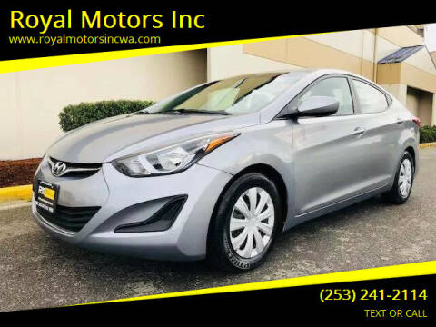 2016 Hyundai Elantra for sale at Royal Motors Inc in Kent WA