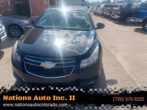2012 Chevrolet Cruze for sale at Nations Auto Inc. II in Denver CO