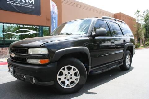 2002 Chevrolet Tahoe for sale at CK Motors in Murrieta CA