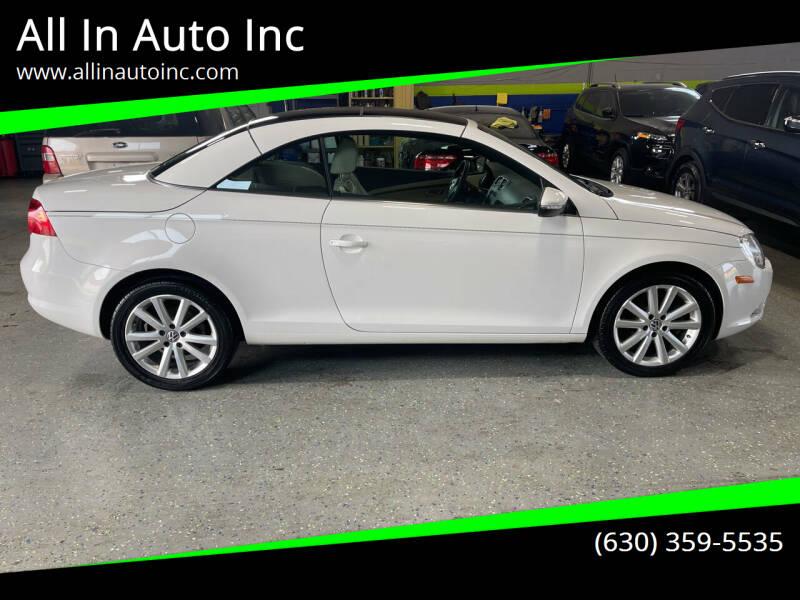 2010 Volkswagen Eos for sale at All In Auto Inc in Addison IL