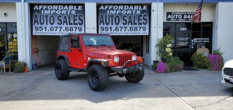 2001 Jeep Wrangler for sale at Affordable Imports Auto Sales in Murrieta CA