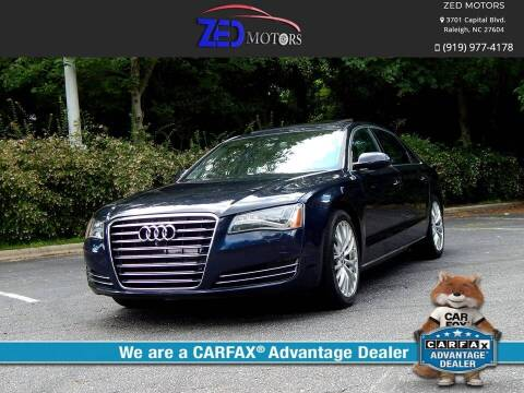 2013 Audi A8 L for sale at Zed Motors in Raleigh NC