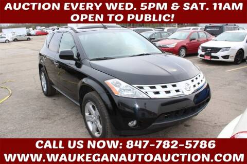 2004 Nissan Murano for sale at Waukegan Auto Auction in Waukegan IL