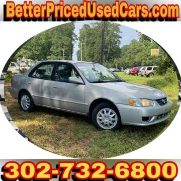 2001 Toyota Corolla for sale at Better Priced Used Cars in Frankford DE