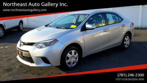 2016 Toyota Corolla for sale at Northeast Auto Gallery Inc. in Wakefield Ma MA