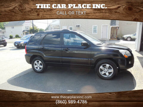 2009 Kia Sportage for sale at THE CAR PLACE INC. in Somersville CT