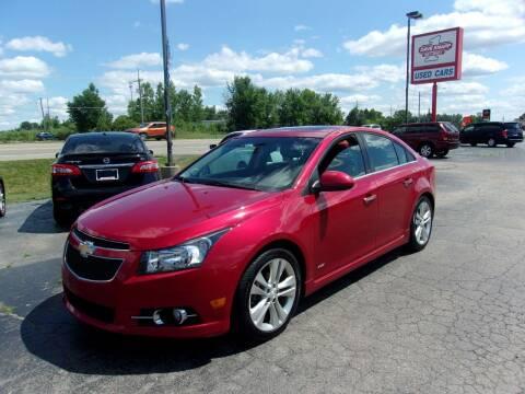 2012 Chevrolet Cruze for sale at DAVE KNAPP USED CARS in Lapeer MI