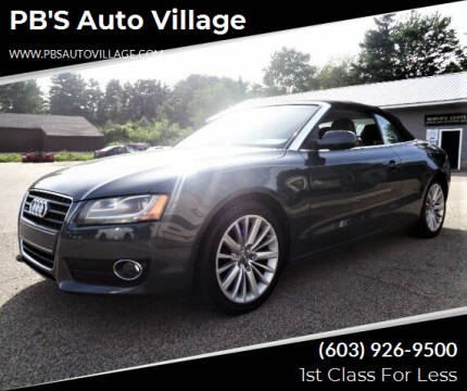 2011 Audi A5 for sale at PB'S Auto Village in Hampton Falls NH