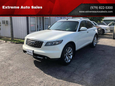 2008 Infiniti FX35 for sale at Extreme Auto Sales in Bryan TX