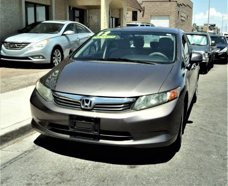 2012 Honda Civic for sale at DESERT AUTO TRADER in Las Vegas NV