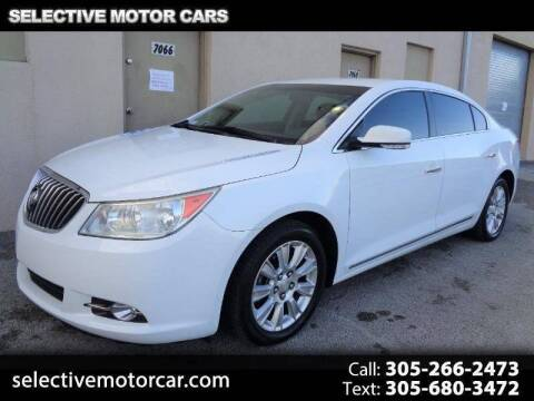 2013 Buick LaCrosse for sale at Selective Motor Cars in Miami FL