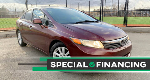 2012 Honda Civic for sale at Maxima Auto Sales in Malden MA
