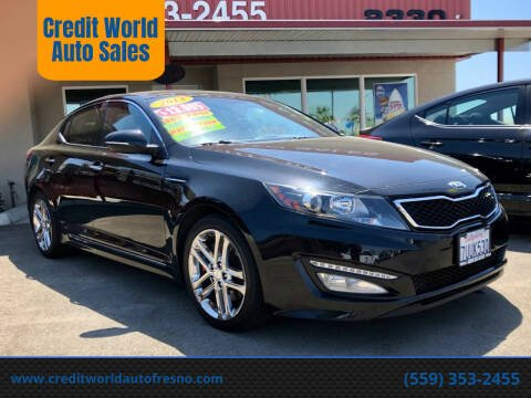 2013 Kia Optima for sale at Credit World Auto Sales in Fresno CA
