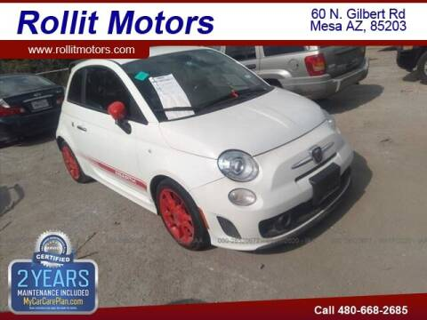 2014 FIAT 500 for sale at Rollit Motors in Mesa AZ